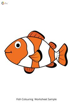 Free Downloadable Fish Worksheets for Kids. Fish Coloring Page, Colouring Pages, Coloring Sheets, Worksheets For Kids, Tigger, Parenting, Names, Chart, Stickers