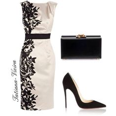 A fashion look from November 2013 featuring Coast dresses, Christian Louboutin pumps ve Yves Saint Laurent clutches. Browse and shop related looks. Komplette Outfits, Classy Outfits, Beautiful Outfits, Work Fashion, Fashion Looks, Pretty Dresses, Dresses For Work, Mode Ootd, Dress To Impress