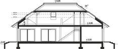 Przekrój ARP PADME CE Village House Design, Village Houses, House Roof, My House, Cottage Style Homes, Craftsman House Plans, Planer, Building A House, Floor Plans