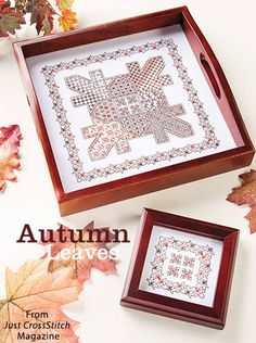 Autumn Leaves from the Sep/Oct 2016 issue of Just CrossStitch Magazine. Order a digital copy here: https://www.anniescatalog.com/detail.html?prod_id=133007
