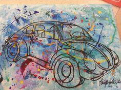 My VW canvas art. Painted by my friend. An original Hiller. Love it!