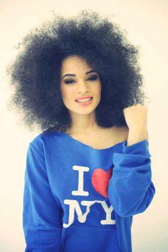 Afro hair. (4C)