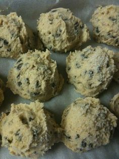 Edible chocolate chip cookie dough...no eggs!! Omnomnom!
