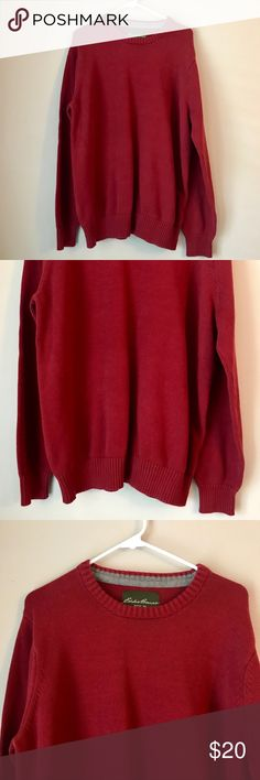 da916189ae4 EDDIE BAUER RED KNIT SWEATER Eddie Bauer red knit sweater! Great condition.  Like new