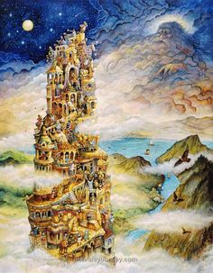 Tower Of Babel Castle board drawing inspiration