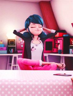 And here we see the majestic Marinette doing what she does best in her natural habitat