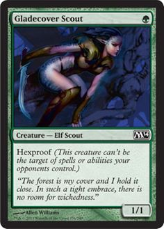 Gladecover Scout MtG Magic the Gathering card