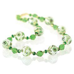Murano Glass Flower Necklace from Uno Alla Volta on shop.CatalogSpree.com,