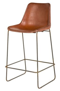 Fernando Barstool  Industrial, Transitional, MidCentury  Modern, Leather, Metal, Stool by Jayson Home