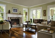 Brazilian walnut flooring in living room with fireplace | Flooring Ideas | Floor Design Trends