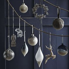 Buy John Lewis Snowdrift Metal Snowflakes Tree Decoration, Assorted Online at johnlewis.com