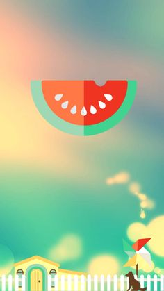 ↑↑TAP AND GET THE FREE APP! Lockscreens Art Creative Watermelon Sky Dog House Fun Blue HD iPhone 6 Lock Screen