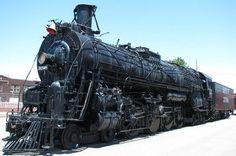 Santa Fe steam locomotive #3768 entered service with the Santa Fe Rail Road in 1938