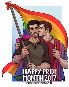 Cute sterek pride month fan art
