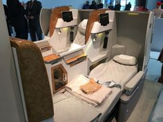 A look into Emirates new business class seats on Boeing 777  (Photo: Sven Hennig)