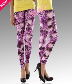 cloud pattern printed leggings pants elasticity fashion $9.58