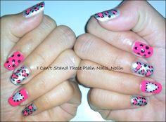 leopard/dotticute nailart