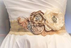 Bridal Sash - Wedding Sash - Bridal Belt - Bridesmaid Sash - Wedding Dress Sash by LovelyLadyAccessory on Etsy https://www.etsy.com/listing/124699536/bridal-sash-wedding-sash-bridal-belt