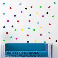 30 polka dot spot bubble wall stickers kid decal art nursery bedroom vinyl