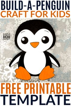 Click now to print your free craft penguin template to make this cute and fun penguin art project! Our easy build-a-penguin is perfect for arctic animal unit themes with your preschool or kindergarten class. He is also great for a winter snow day craft with your toddler at home!