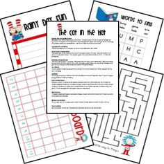 Dr. Seuss lesson plans and printables (free)