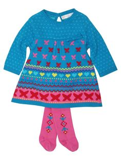 M Kids Knitted intarsia dress