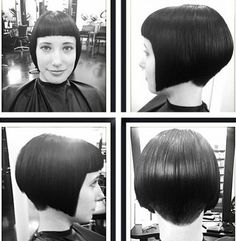 Bob Hairstyle with Blunt Bangs