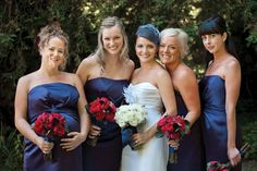 The bride and bridesmaids.