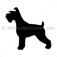 Schnauzer silhouette clip art. Download free versions of the image in EPS, JPG, PDF, PNG, and SVG formats at http://silhouettegarden.com/download/schnauzer-silhouette/