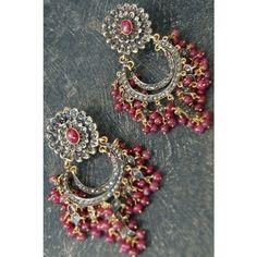 Rona Pfeiffer Fringe Ruby And Diamond Earrings