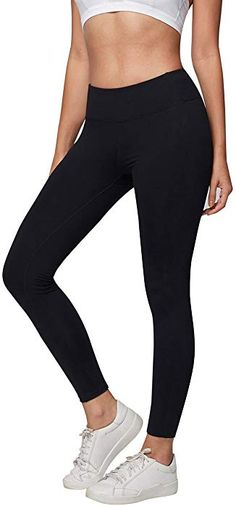 2a5086d83213 Amazon.com  AJISAI Womens Workout Leggings High Waist Tummy Control Yoga  Running Pants Color Black Size M  Clothing