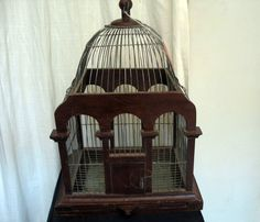 Victorian Style Bird Cages | Vintage Victorian Style Wood and Wire Bird Cage