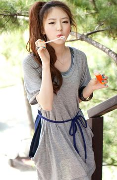 Ulzzang I love her hair an outfit ^_^