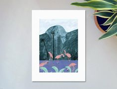 Tirage Les flamants roses Affiche image 0 Illustrations Techniques, Thé Illustration, Flamingo, Digital Art, Etsy, Art Prints, Vintage, Drawings, Unique Jewelry