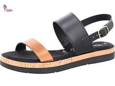 Tamaris  11 28223 38 097, Sandales pour femme - multicolore - black/copper, - Chaussures tamaris (*Partner-Link)