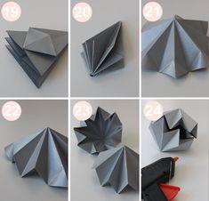 DIY guide til origami diamanter, der er til at fatte! 3d Origami Stern, Instruções Origami, Origami Paper Folding, Origami Lamp, Origami Star Box, Origami Stars, Diamond Origami, Geometric Origami, Origami Ideas