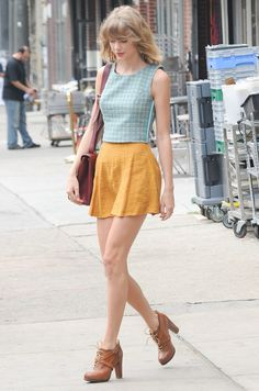 Taylor Swift's Summer of Killer Style: Schoolgirl Chic