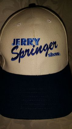 c4296a7e5c545 RARE Jerry Springer Show Baseball Cap Hat Reality TV Jerry Springer Curved  Bill Caps Hats