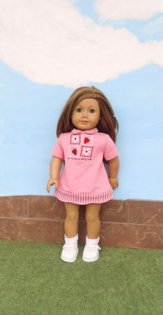 American Girl Doll Clothes Pink Doll Dress by DonnaDesigned, $20.00  https://www.etsy.com/listing/188295785/american-girl-doll-clothes-pink-doll?ref=shop_home_active_1