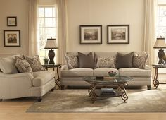 This upscale transitional sofa makes everyone feel right at home. Low English arms, roomy seats and velvety upholstery are ideal for lounging and conversation.