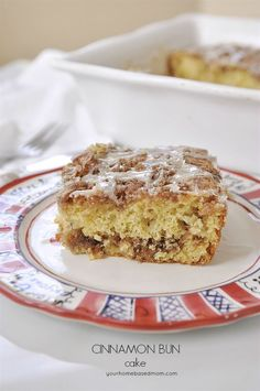 Cinnamon Bun Cake is the perfect anytime treat. Moist, delicious and full of cinnamon goodness