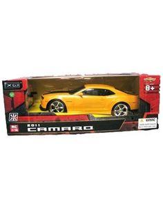 1/18 Scale 2011 Chevrolet Camaro RS SS Yellow w/ Black Stripes Radio Remote Control Car RC $23.75