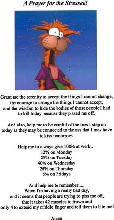 Prayer for the stressed