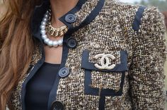 pearls and chanel tweed: classic