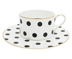 Tazza in porcellana con piattino Loulou - 210 ml