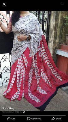 Items similar to For Women 2020 Hand Block Print Pure Cotton Saree Cotton Saree Designs, Kurta Designs, Saree Blouse Designs, Blouse Patterns, Indian Silk Sarees, Silk Cotton Sarees, Handloom Saree, Kurti, Shibori Sarees