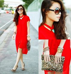 Red is the color of love (by Kryz Uy) http://lookbook.nu/look/4051574-Red-is-the-color-of-love