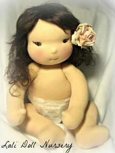 Lokelani a custom asian inspired waldorf baby doll