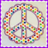 """Scalloped Peace Sign 4x4, 5"""", 6"""" filed  girlie   babykays_scalloppeacesign"""