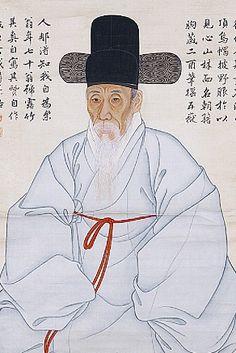 (Korea) Self portrait 1782 by Gang Se-hwang (1713-1791). 88.7× 51.0cm. KOREAN ART AND ARTIFACTSMore At FOSTERGINGER @ Pinterest